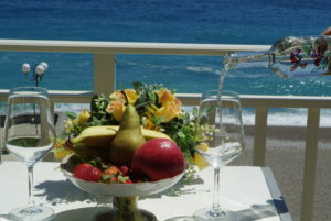 Balcone con vista mare Suite Baia Blu, Taormina Appartamenti, Taormina apartments