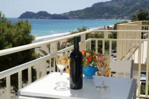 Balcone con vista mare, appartamento Taormina Baia Blu, Taormina apartments