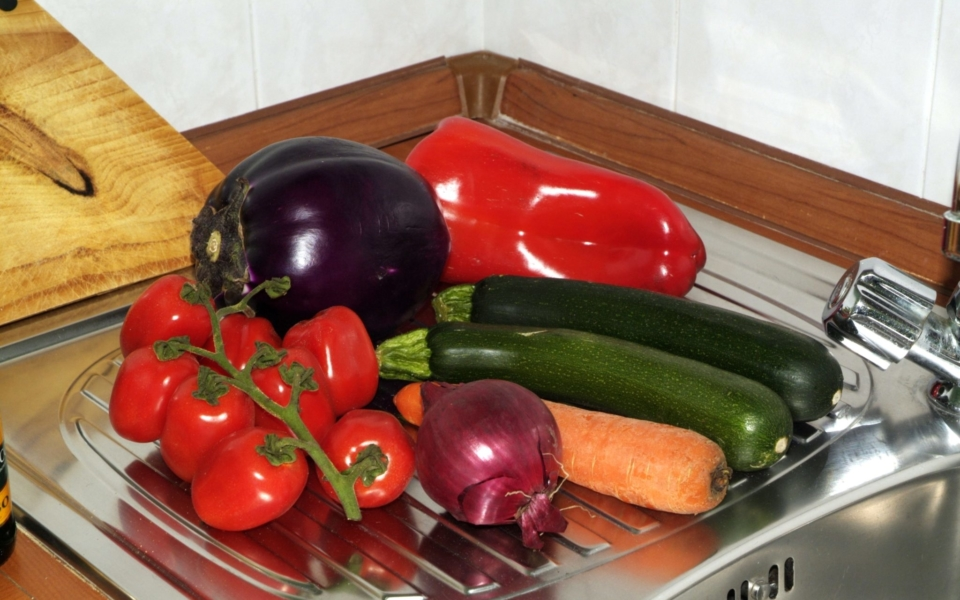 particolare cucina Baia Blu appartamento Taormina mare