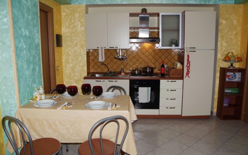 Soggiorno cucina Filicudi, Taormina appartamenti, Apartments Taormina mare