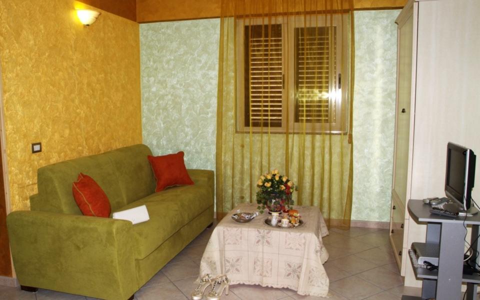 Soggiorno Suite Panarea, Taormina appartamenti, Taormina Apartments