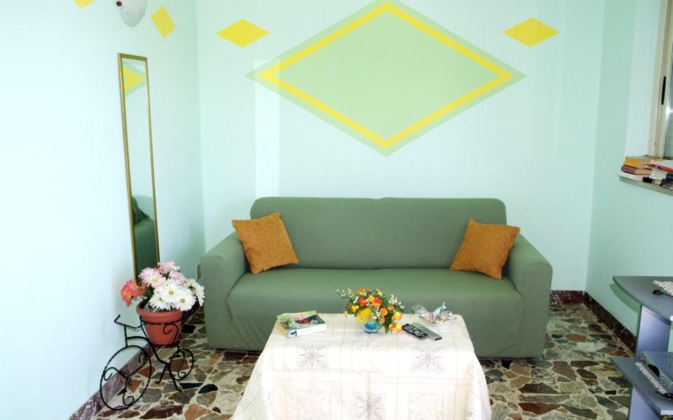 Salotto Baia Blu, taormina appartamento