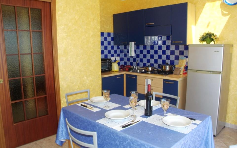Sala da pranzo, Bellavista appartamento taormina mare, Taormina apartments